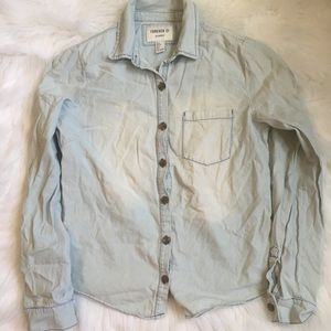 🤑$8 FINAL PRICE🤑Forever 21 Jean Button Down L